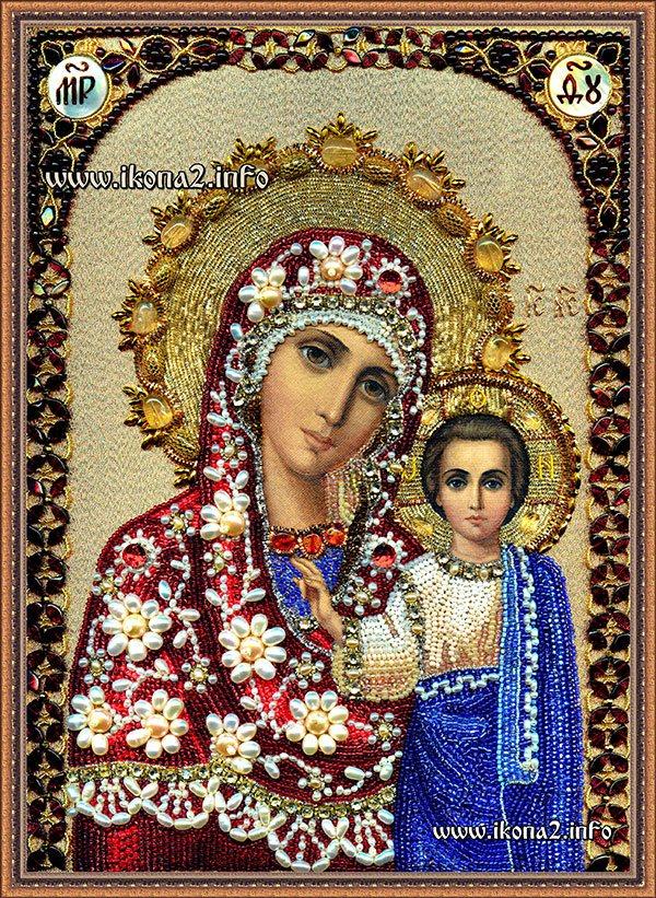 Как вышивать бисером икону казанской божьей матери