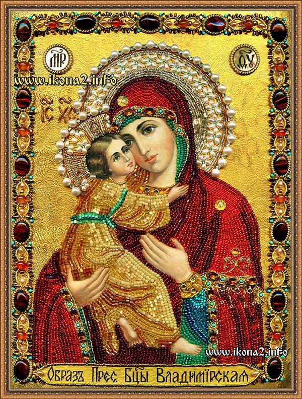 Владимирская божья матерь вышивка бисером 194