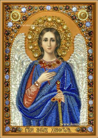 Вышивка бисером Святой Ангел Хранитель