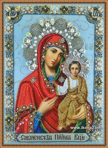 Смоленская икона Богородицы бисером