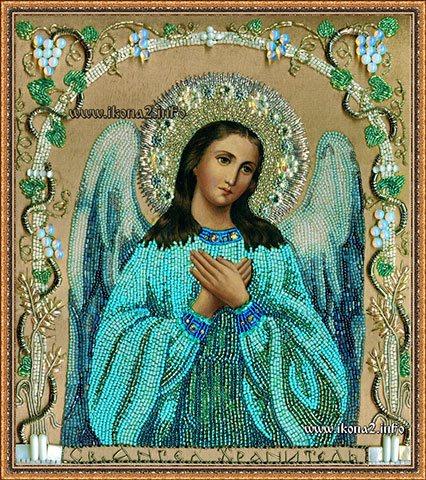 Икона Ангела Хранителя бисером