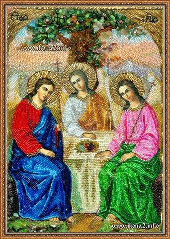 Вышивка бисером Великая Троица