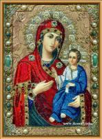 Вышитая бисером Иверская Богородица