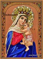 Вышивка бисером иверская божия матерь