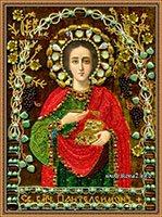 Вышитые бисером иконы Святого Целителя Пантелеймона